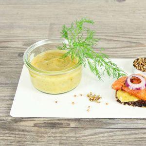Honig-Senf-Dill-Sauce hausgemacht